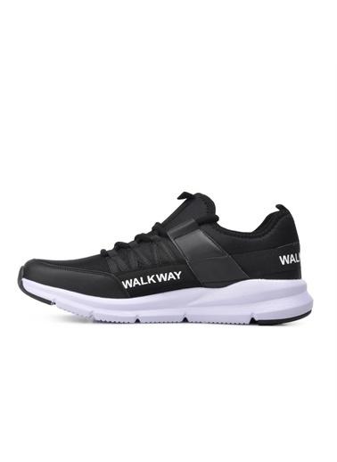 Walkway Enjoy Siyah-Beyaz Spor Ayakkabı Siyah